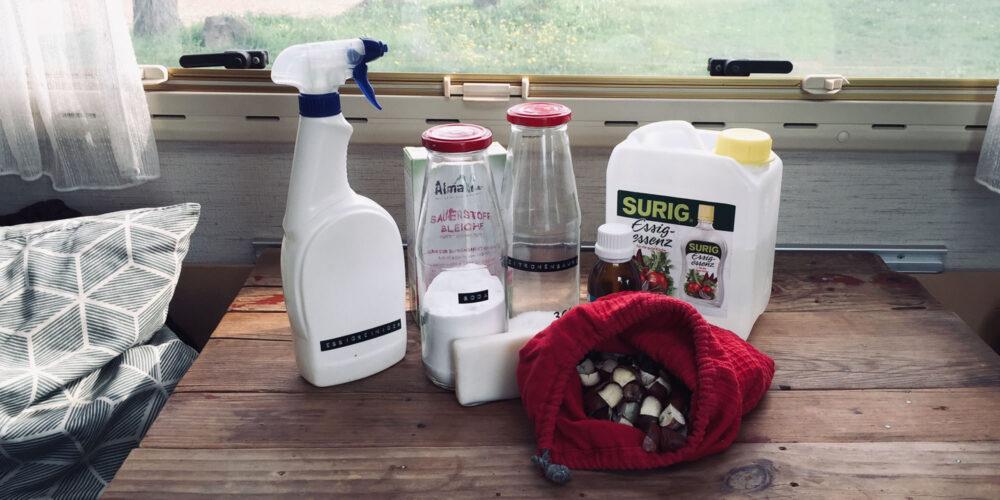 Camper putzen mit ökologischen Hausmitteln