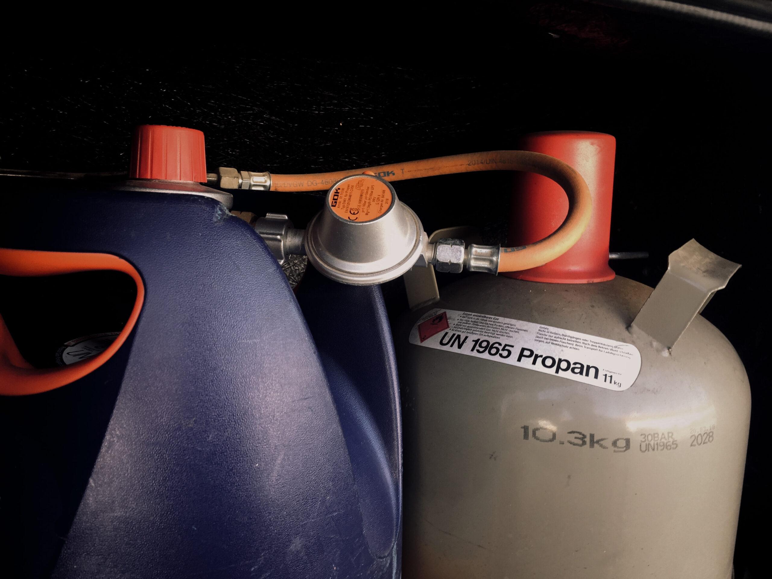Unser Gasverbrauch unterwegs