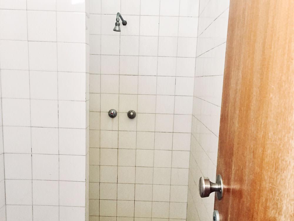 Eine öffentliche Dusche