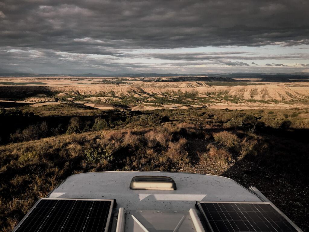 Solarpanele auf dem Wohnmobil