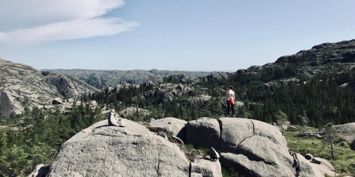 Finanzielle Freiheit: Endloser Blick über die Norwegens Steinlandschaft