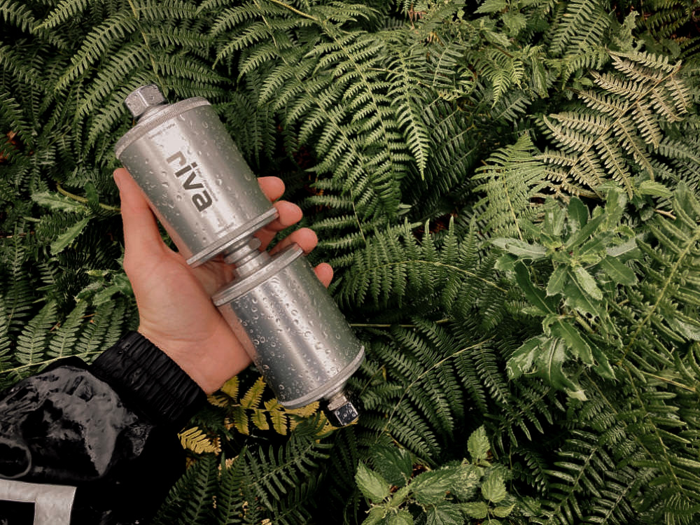 Wasserfilter im Camper: Der kleine Filter von Riva ist sehr handlich