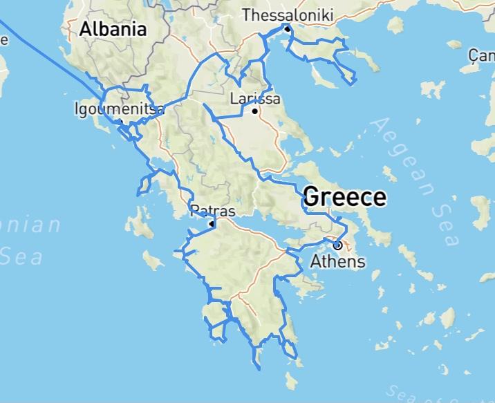 Überwintern in Griechenland: Unsere Route