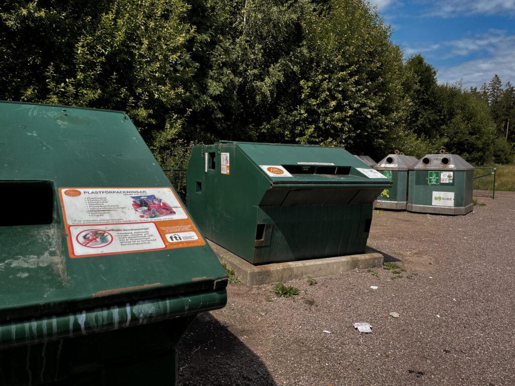 Recycling-Station in Schweden